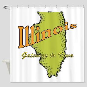 Illinois Funny Motto Shower Curtain