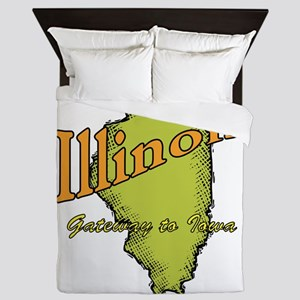 Illinois Funny Motto Queen Duvet