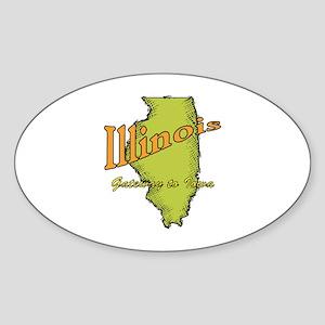 Illinois Funny Motto Sticker (Oval)