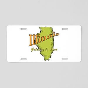 Illinois Funny Motto Aluminum License Plate
