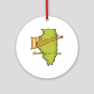 Illinois Funny Motto Ornament (Round)