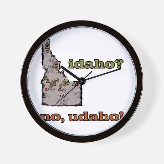 Idaho? No, Udaho! Wall Clock