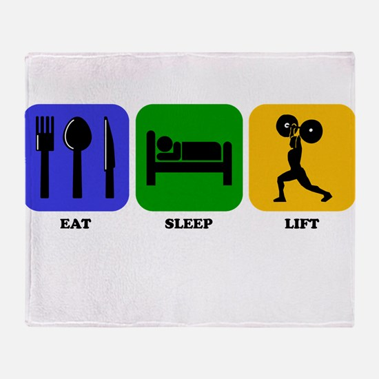 Eat Sleep Lift Throw Blanket