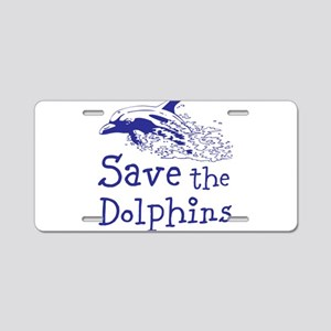 Dolphins Aluminum License Plate