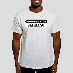 Property of Mariano Ash Grey T-Shirt
