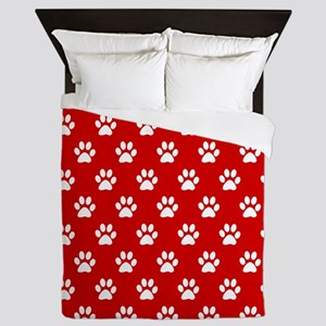 Paws Red Queen Duvet