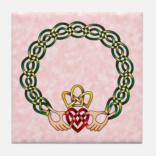 Claddagh Tile Coaster