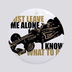 Kimi Raikkonen - Just Leave Me Alone Ornament (Rou