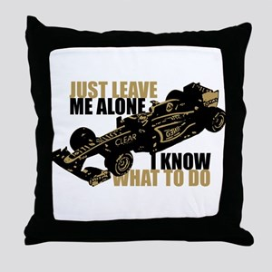 Kimi Raikkonen - Just Leave Me Alone Throw Pillow