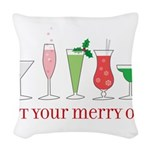 drinks_holiday_CP Woven Throw Pillow