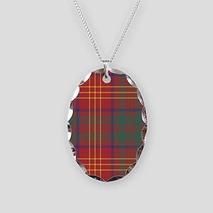Tartan - Burns Necklace Oval Charm