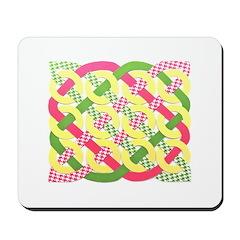 Celtic 12 Circles Pastel Colors Mousepad