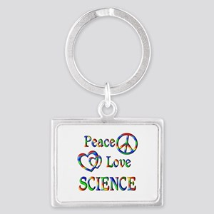 Peace Love SCIENCE Landscape Keychain