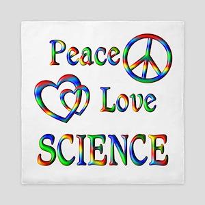 Peace Love SCIENCE Queen Duvet