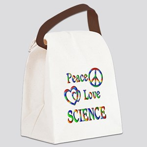Peace Love SCIENCE Canvas Lunch Bag