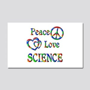 Peace Love SCIENCE Car Magnet 20 x 12