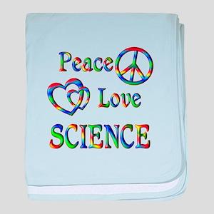 Peace Love SCIENCE baby blanket