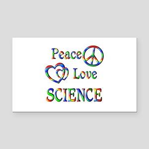 Peace Love SCIENCE Rectangle Car Magnet