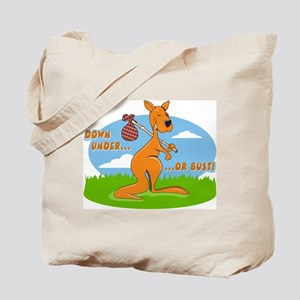 Down Under or Bust Tote Bag