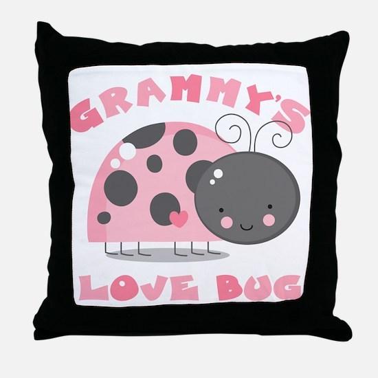Grammy's Love Bug Throw Pillow