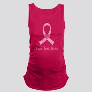 Breast Cancer Personalized Ribbon Maternity Tank T