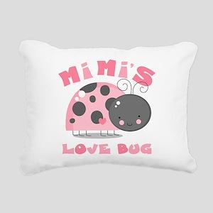 Mimi's Love Bug Rectangular Canvas Pillow