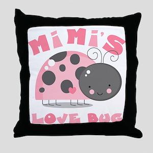 Mimi's Love Bug Throw Pillow