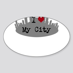 Customizable I Heart City Sticker
