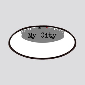 Customizable I Heart City Patches