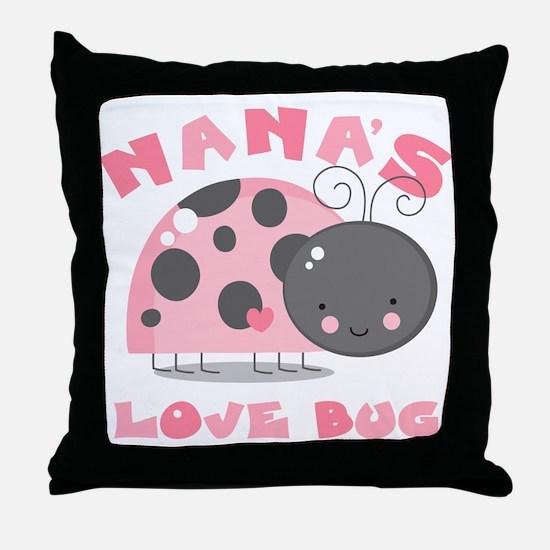 Nana's Love Bug Throw Pillow