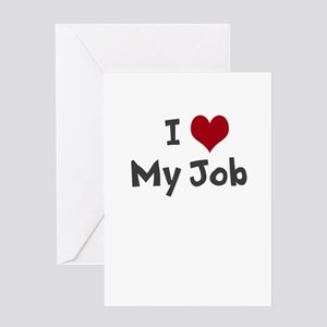 I Heart My Job Greeting Cards
