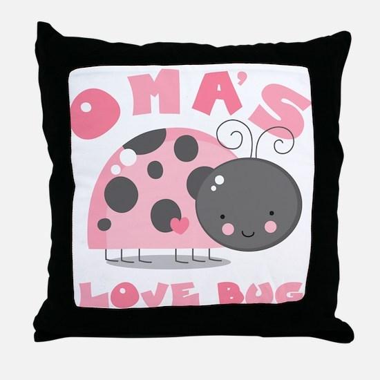 Oma's Love Bug Throw Pillow
