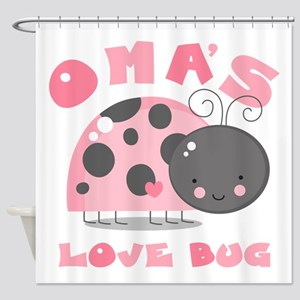 Oma's Love Bug Shower Curtain
