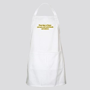 please spay or neuter BBQ Apron