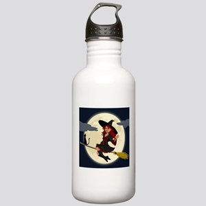 REDHEADED HALLOWEEN WITCH Water Bottle