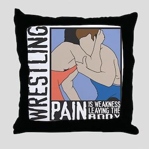 Wrestling Pain Throw Pillow