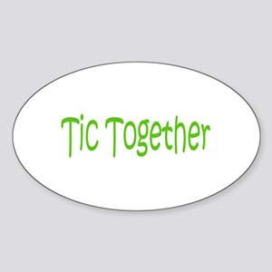 Tic Together Green Oval Sticker