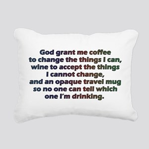 God grant me a travel mug! Rectangular Canvas Pill