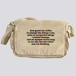 God grant me a travel mug! Messenger Bag
