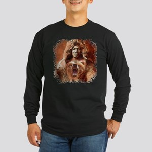 Bear's Belly - Arikara Long Sleeve Dark T-Shirt