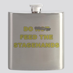 Do Not Feed The Stagehands Flask