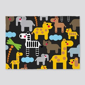 African Animals 5'x7'Area Rug