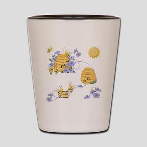 Honey Bee Dance Shot Glass