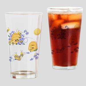 Honey Bee Dance Drinking Glass