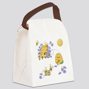 Honey Bee Dance Canvas Lunch Bag