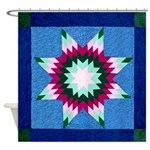 Star Quilt Shower Curtain