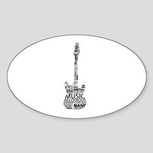 guitar word fill black music image Sticker