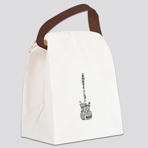 guitar word fill black music image Canvas Lunch Ba