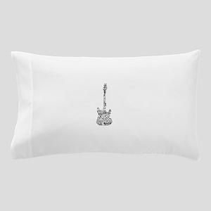 guitar word fill black music image Pillow Case