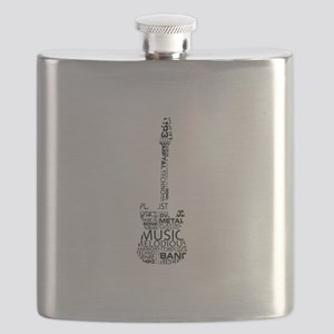 guitar word fill black music image Flask